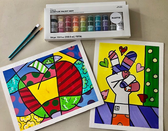 Painting Canvass - Romero Britto