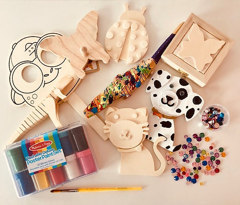 Wood/Paper Mache Paint Busy Bags