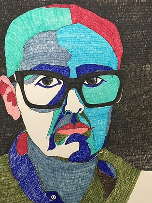 Self Portrait Fridays for Grades 2nd-9th