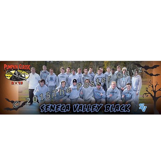 "Seneca Valley Black - 6""x18"" Poster"