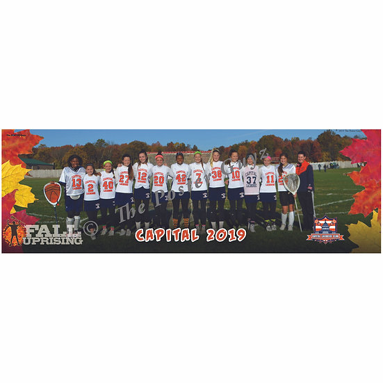 """Capitol 2019 Orange - 6"""" x 18"""" Poster"""