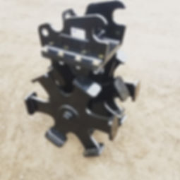 sheaps foot roller of kubota KX057.jpg
