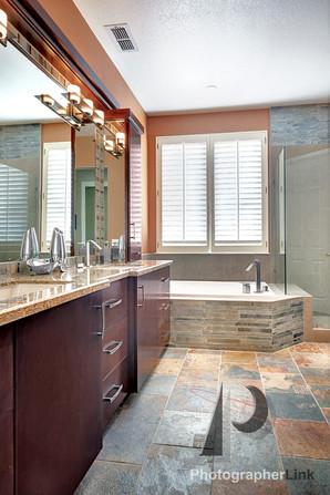 Mercado Construction  Calder-Doheney Project Bathroom Vanity and Tub 2