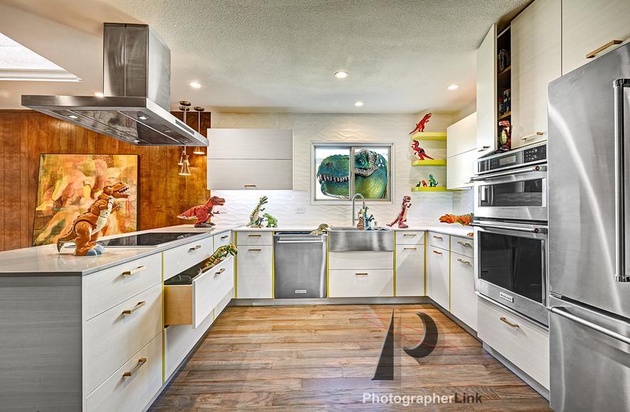 NAR Fine Carpentry, Inc. Keilar-Timmerman project Kitchen with a dinosaur twist