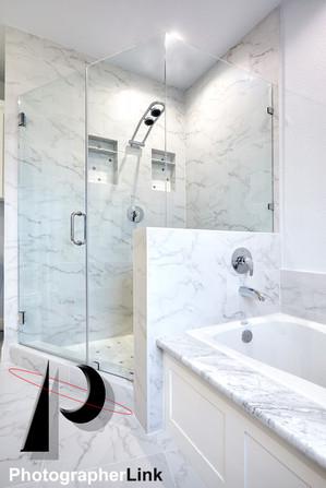 Mercado Construction  Calder-Doheney Project Bathroom Vanity and Tub design