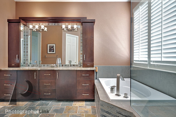 Mercado Construction  Calder-Doheney Project Bathroom Vanity and Tub