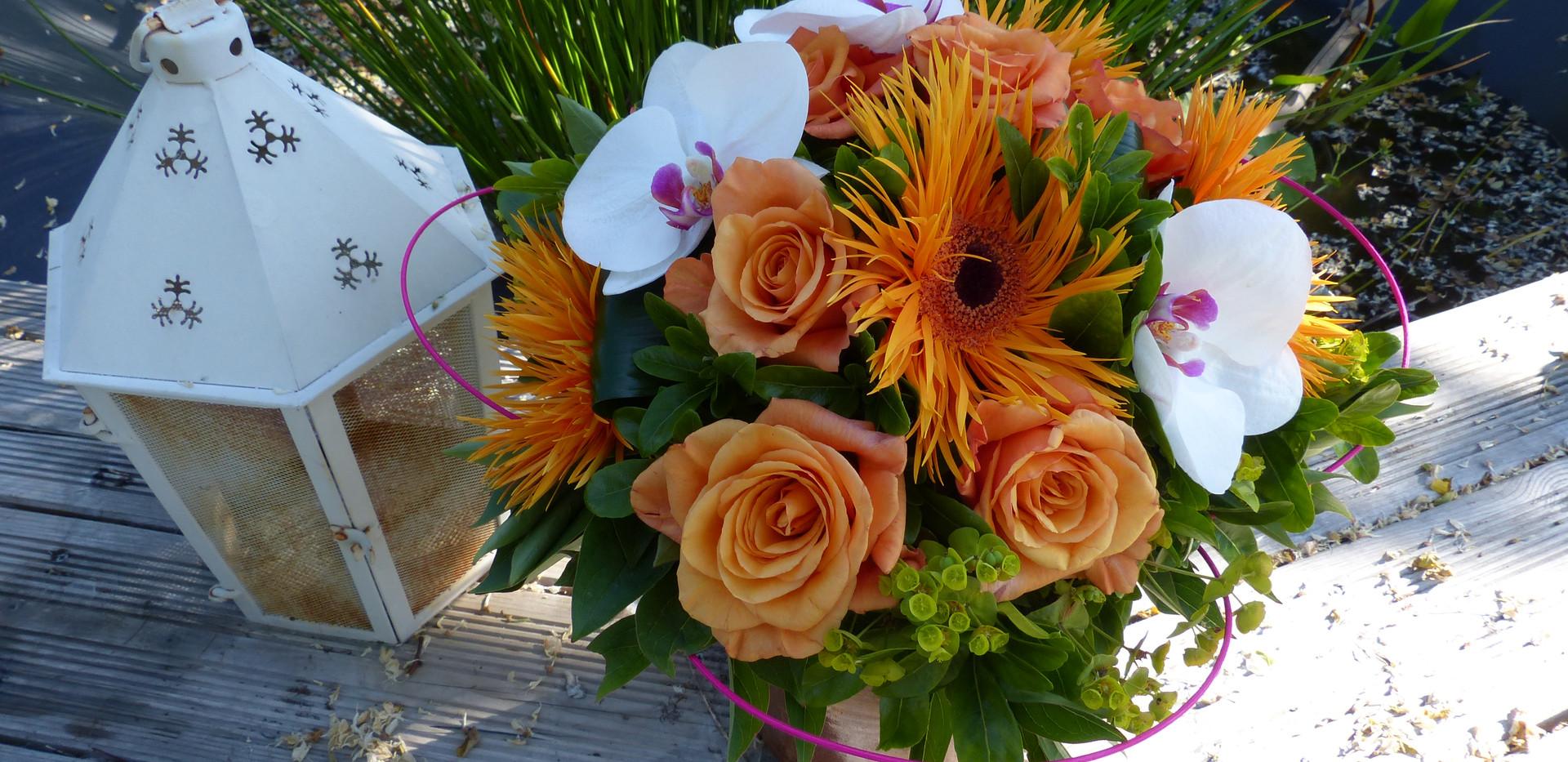 Bouquet ton orangé