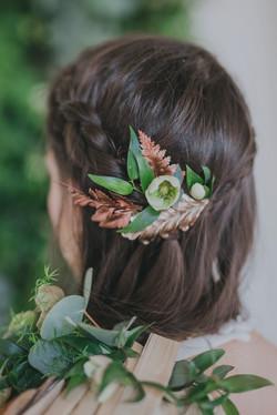 Décor de cheveu Mariage botanique