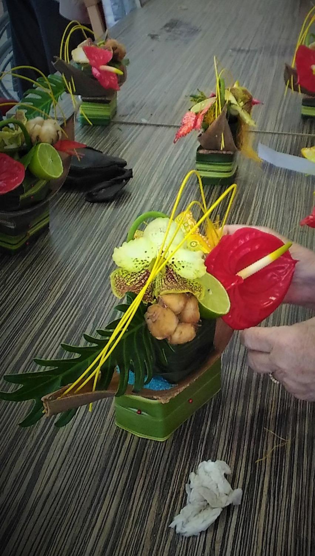 Anthurium et orchidée