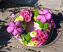 assiette fleurie