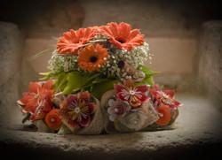 Bouquet de mariée, fleurs en papier