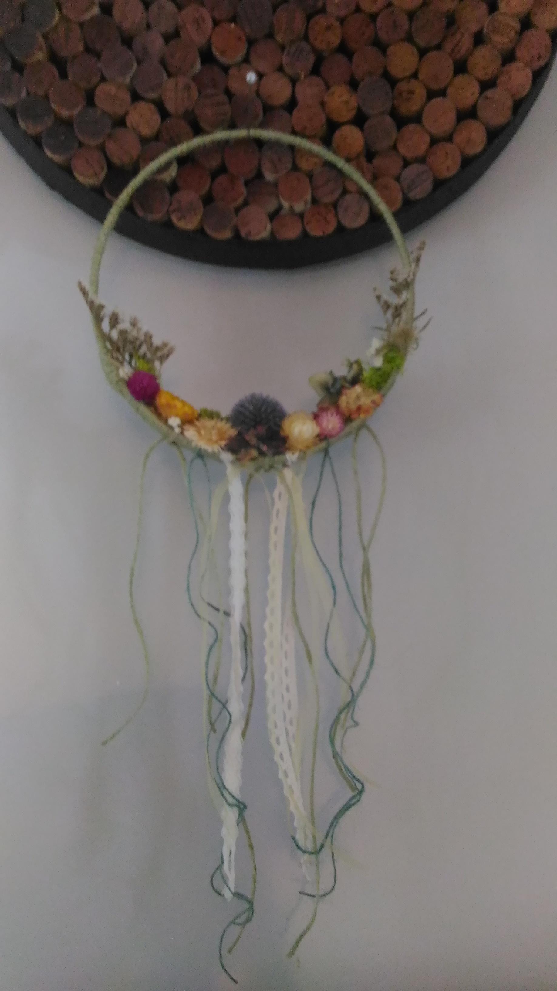 Couronne de fleurs séchées