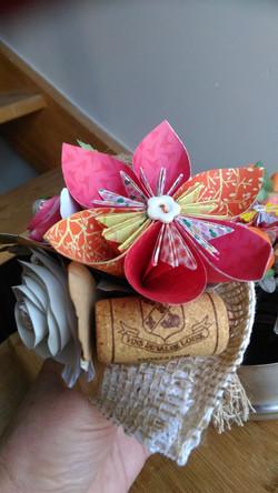 bouquet fleur de papier