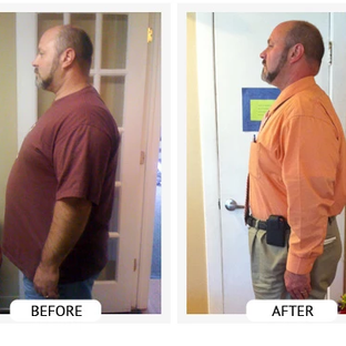 Roland lost 56lbs and 34 inches