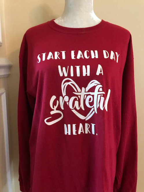Start Each Day with a Grateful Heart (T-Shirt)
