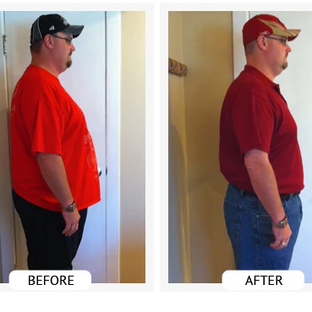 Don lost 96 lbs and 46 inches