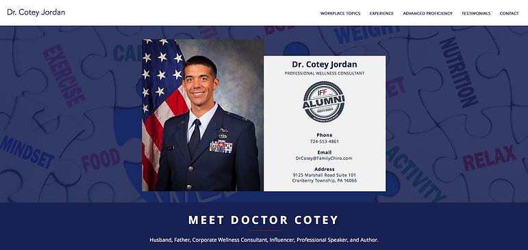 Wellness Speaker Dr. Cotey Jordan