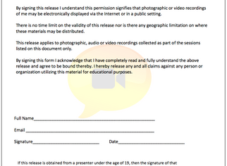 Video Release Form (Free Resource)