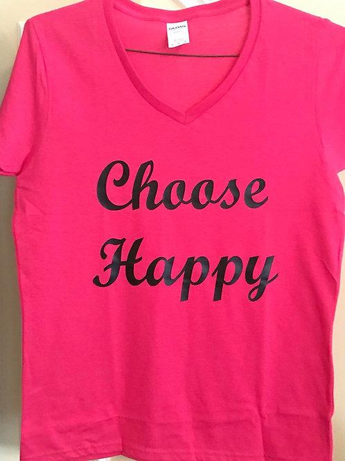 Choose Happy (Ladies T-Shirt)