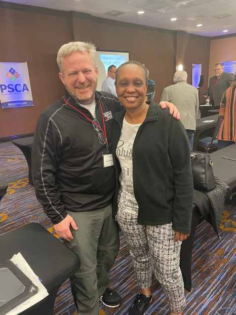 Dr. Yvette Edwards and Tony Seymour