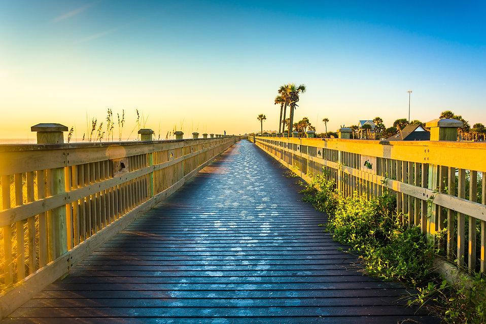 Boardwalk at the beach in Palm Coast, Fl
