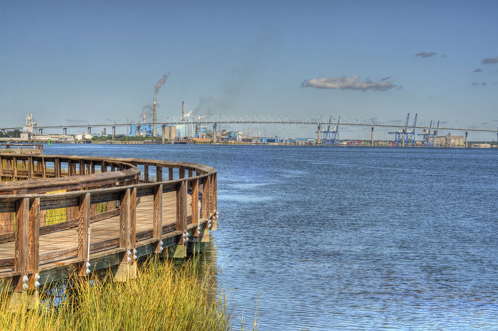 View of Industry from Riverfront Park in