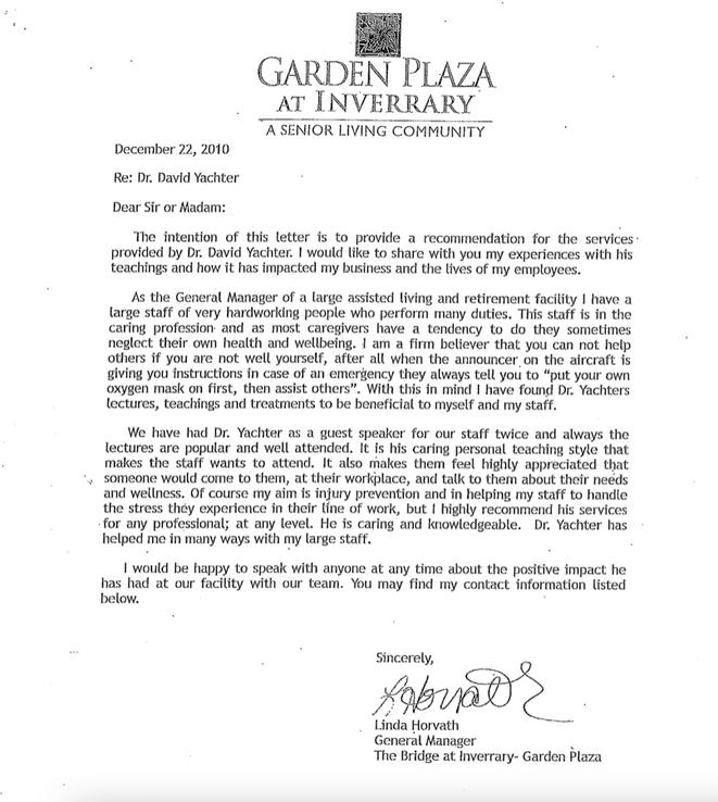 Garden Plaza Testimonial