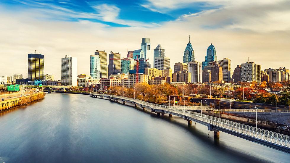 Panoramic picture of Philadelphia skylin