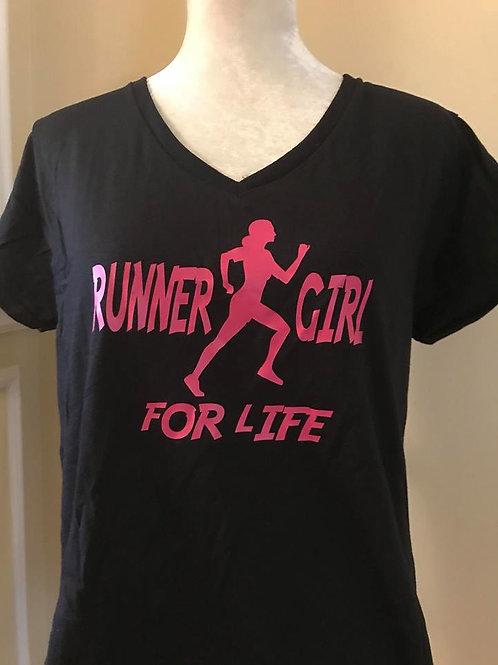 Runner Girl for Life (Ladies T-Shirt)