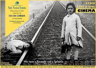 Ctrl Alt CiNEMA Shiv Nadar Course Poster