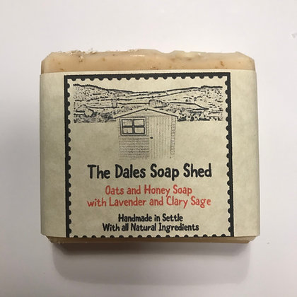 Oats and Honey Soap with Lavender and Clary Sage approx 100g