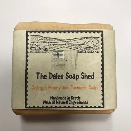 Orange, Honey and Turmeric Soap approx 100g