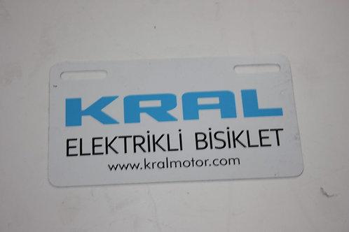 ELEKTRİKLİ BİSİKLET PLAKASI