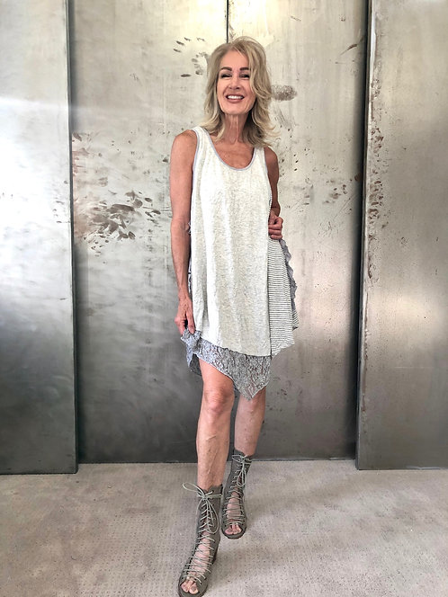 Lauren Dress Heather Gray/Silver Combo