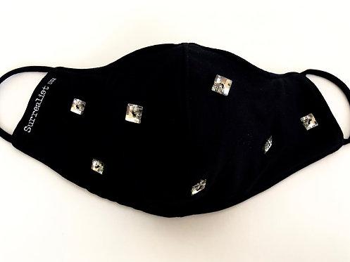 Black BLING Star Mask