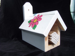 Hand Painted Wooden Mason House $35