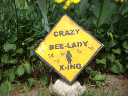 Crazy Bee Lady Sign $5