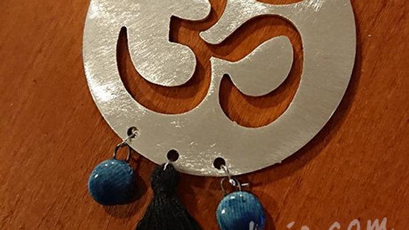 Namasté bleu - broche ou aimant