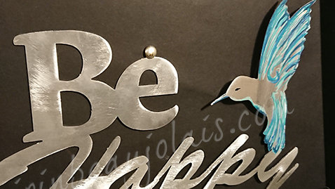 Carte Cadre Be Happy - in blue