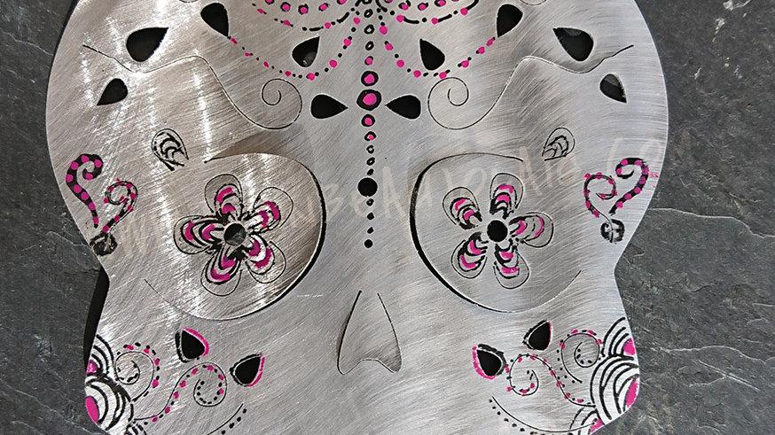 Carte Mobile skull, tete de mort I.AM.UNIQUE