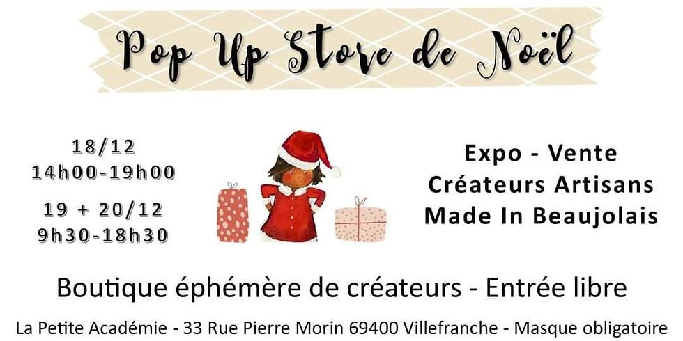 POP UP DE NOEL  à La Petite Académie * villefranche s/saone