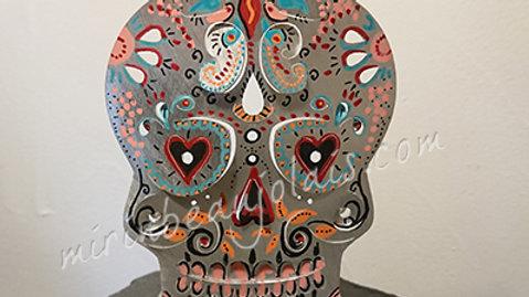 Grand Photophore Calaveras Crane Skull#12