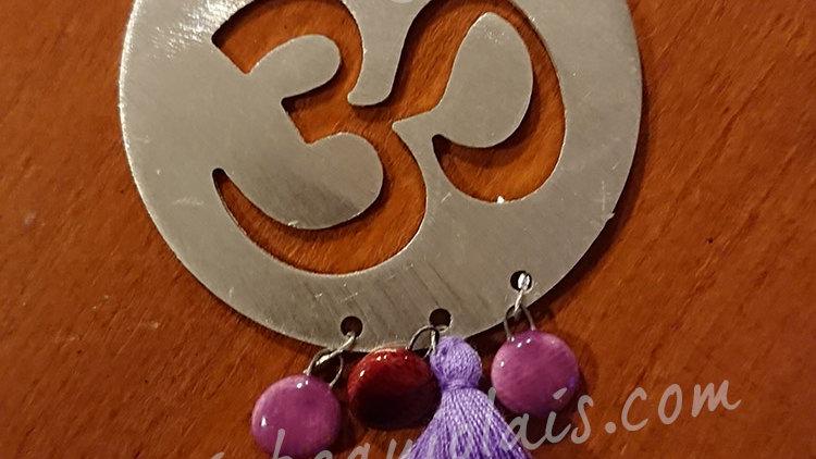 Namasté violet - broche ou aimant