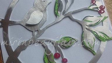 Carte Mobile Oiseau sur sa branche