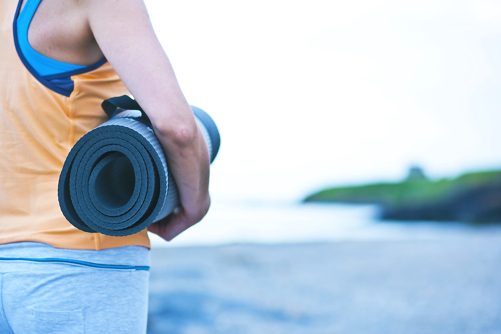 Yoga Mat by the Sea image