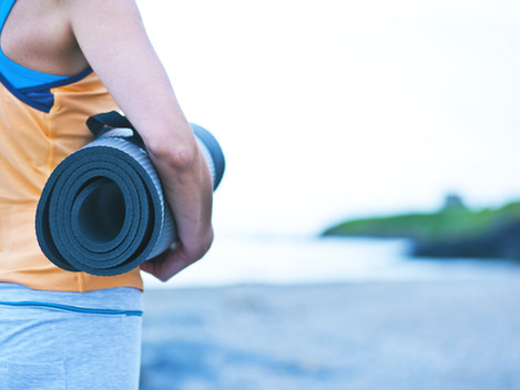 Get outside: yoga by the sea