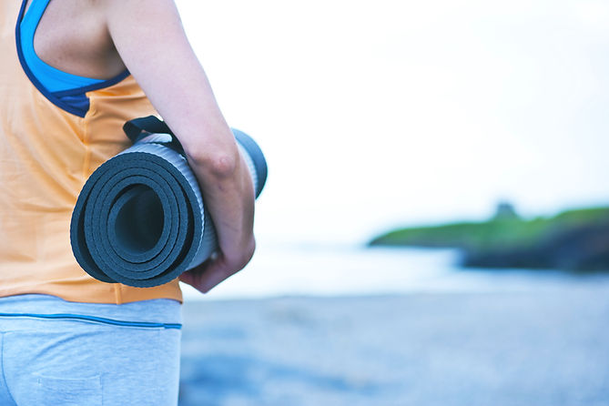 Yoga Mat Woman Ocean St. John USVI Workout Exercise