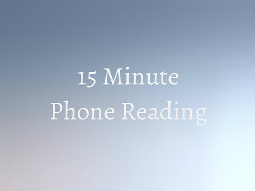15 Minute Psychic Phone Reading