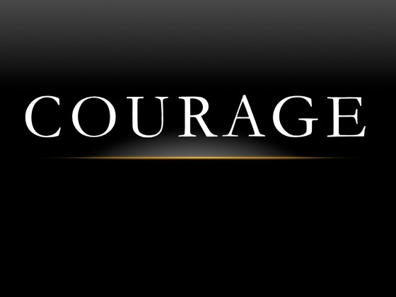 Courage in the Face of Fear and Adversity