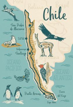 Illustration carte Chili